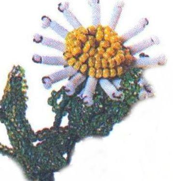 Бисероплетение цветы: маргаритка.