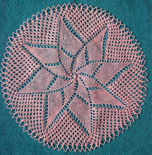 Вязание спицами салфеток