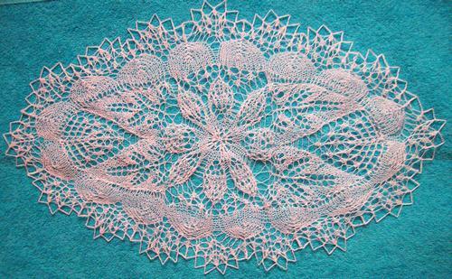 Вязание спицами салфеток: