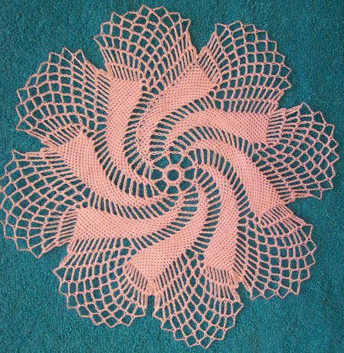 Вязание крючком салфетки со