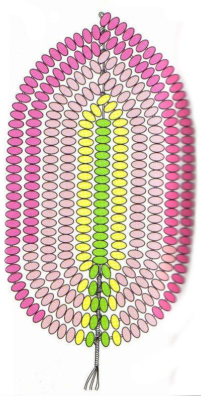 Бисероплетение цветы: клематис.