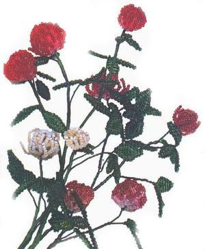Бисероплетение цветы: клевер.