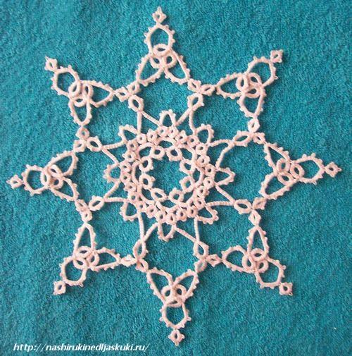схема плетения салфетки из