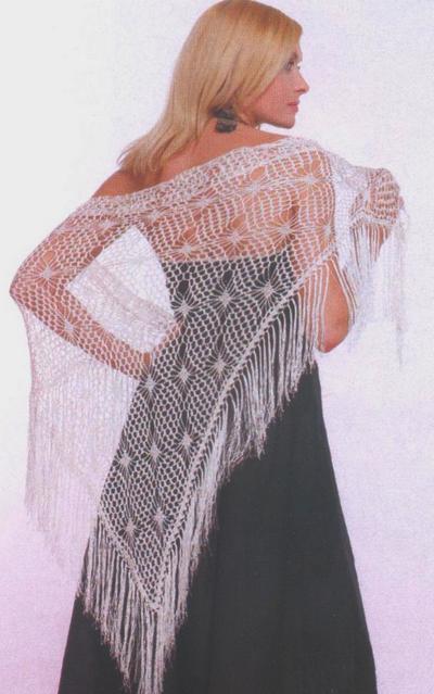 Вязание крючком шали для лета.